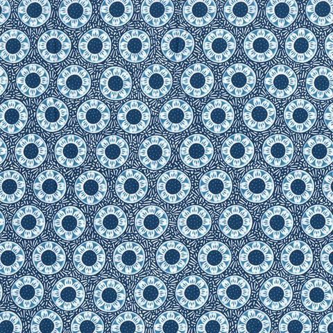 Cotton,Quilt,Fabric,Chirp,Blue,Flowers,Alex,Anderson,RJR,,quilt backing, dresses, quilt fabric,cotton material,auntie chris quilt,sewing,crafts,quilting,online fabric,sale fabric