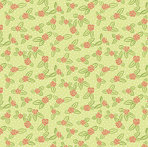 Cotton,Quilt,Fabric,Rosebuds,Spring,Green,Pink,Floral,Dot,,quilt backing, dresses, quilt fabric,cotton material,auntie chris quilt,sewing,crafts,quilting,online fabric,sale fabric