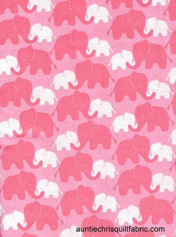 Cotton,Quilt,Fabric,Baby,Mine,Elephants,Pink,Emma,N,Mila,,quilt backing, dresses, quilt fabric,cotton material,auntie chris quilt,sewing,crafts,quilting,online fabric,sale fabric
