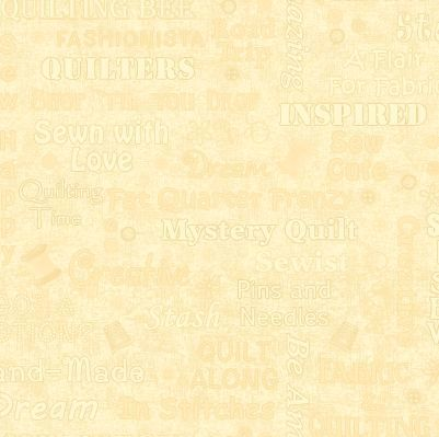 Cotton Quilt Fabric Shop Hop Words Texture Cream Sewing Words - product images  of