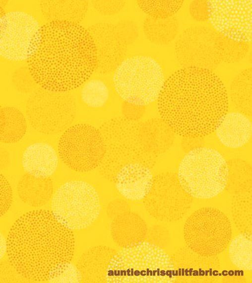 Cotton Quilt Fabric This N That Aurora Gold Dot Circles Tone On tone - product images  of