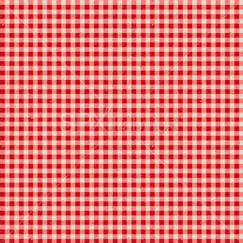Cotton Quilt Fabric Buon Appetito Gingham Red Speckled Check - product images  of