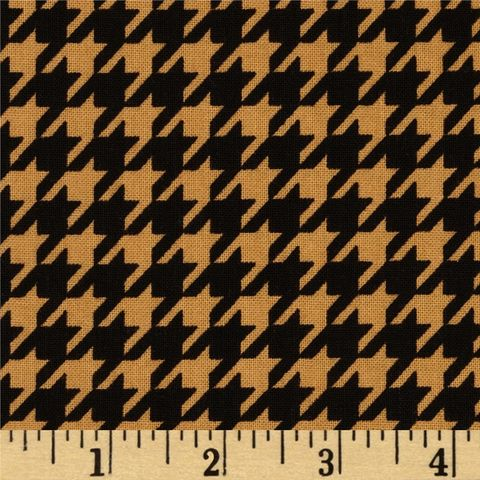 Cotton,Quilt,Fabric,Black,&,Tan,Houndstooth,Check,,quilt backing, dresses, quilt fabric,cotton material,auntie chris quilt,sewing,crafts,quilting,online fabric,sale fabric
