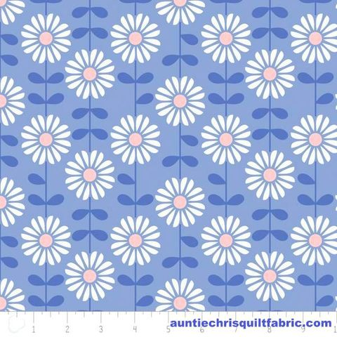 Cotton,Quilt,Fabric,DAISY,DELIGHT,ROSE,QUARTZ,&,SERENITY,Blue,Floral,,quilt backing, dresses, quilt fabric,cotton material,auntie chris quilt,sewing,crafts,quilting,online fabric,sale fabric