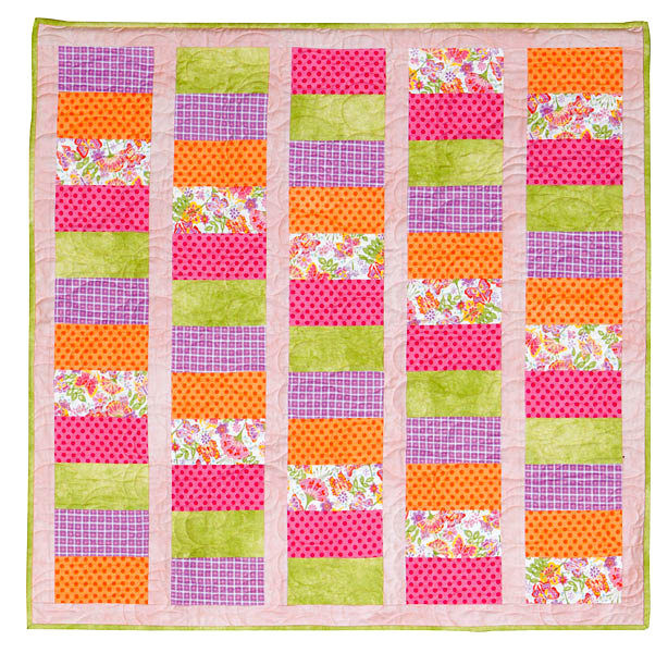 Quick Baby Quilt Simple And Sweet Baby Flannel Quilt Kit - product images  of