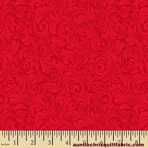 Cotton,Quilt,Fabric,Autumn,Palette,Flourish,Red,Tone,On,,quilt backing, dresses, quilt fabric,cotton material,auntie chris quilt,sewing,crafts,quilting,online fabric,sale fabric