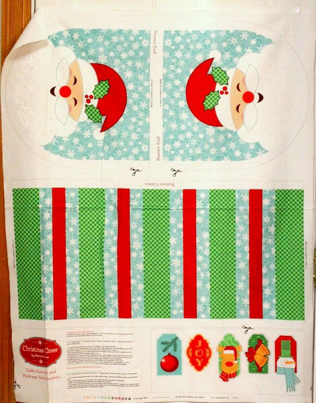 Cotton Quilt Fabric SANTA'S STASH CHRISTMAS CHEER Table Runner Adornments - product images  of