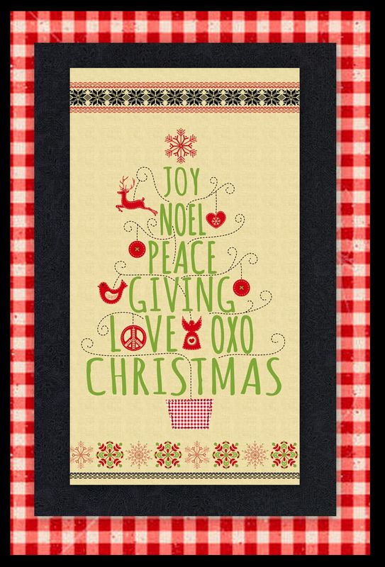 Easy Peace Joy Love Whimsical Christmas Panel Quilt Kit Beginners - product images  of