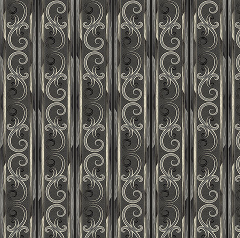 Cotton,Quilt,Fabric,Juliette,Gothic,Scroll,Stripe,Dk,Stone,Black,,quilt backing, dresses, quilt fabric,cotton material,auntie chris quilt,sewing,crafts,quilting,online fabric,sale fabric