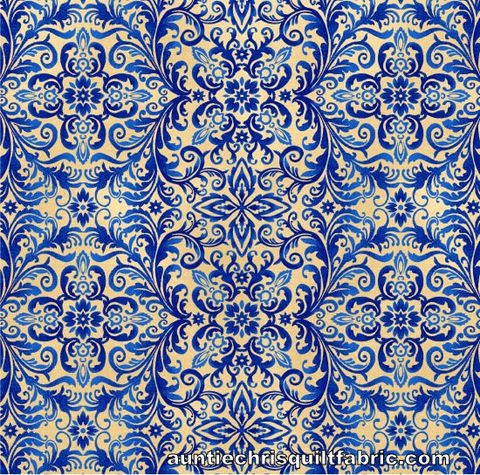 Cotton,Quilt,Fabric,Libertyville,Damask,Blue,Americana,Patriotic,,quilt backing, dresses, quilt fabric,cotton material,auntie chris quilt,sewing,crafts,quilting,online fabric,sale fabric