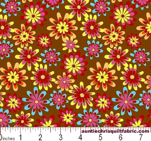 Cotton,Quilt,Fabric,Flower,Power,Ditsy,Daisy,Lt,Brown,Multi,,quilt backing, dresses, quilt fabric,cotton material,auntie chris quilt,sewing,crafts,quilting,online fabric,sale fabric