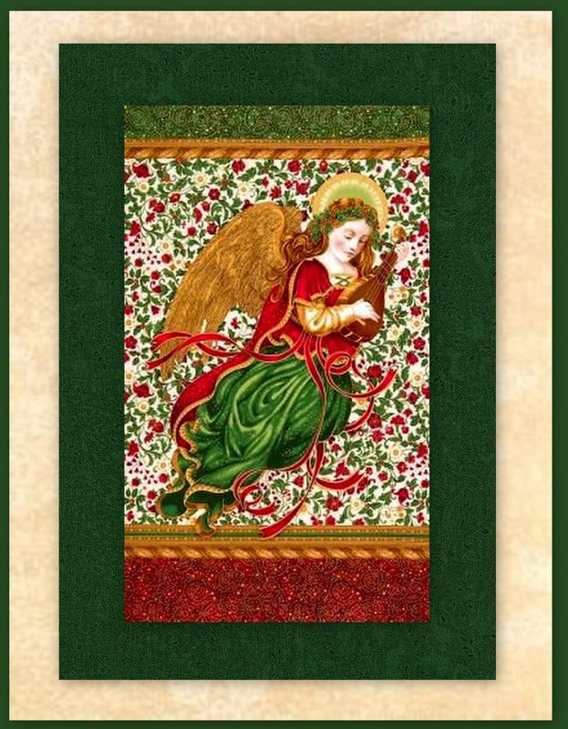 Holiday Flourish Angel Easy Christmas Panel Quilt Kit Beginners Wall Quilt - product images  of
