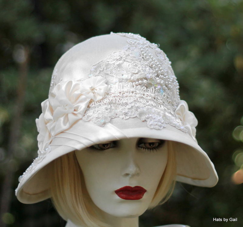Formal Wide Brim Vintage Style Wedding Hat Tea Party - Hats by Gail