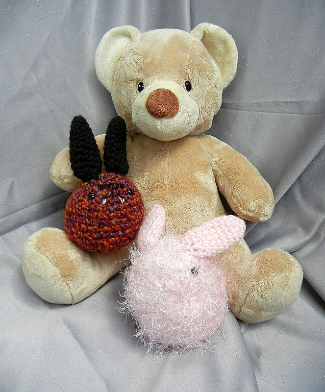 Pink Stuffed Bunny Rabbit Crochet Doll - product image