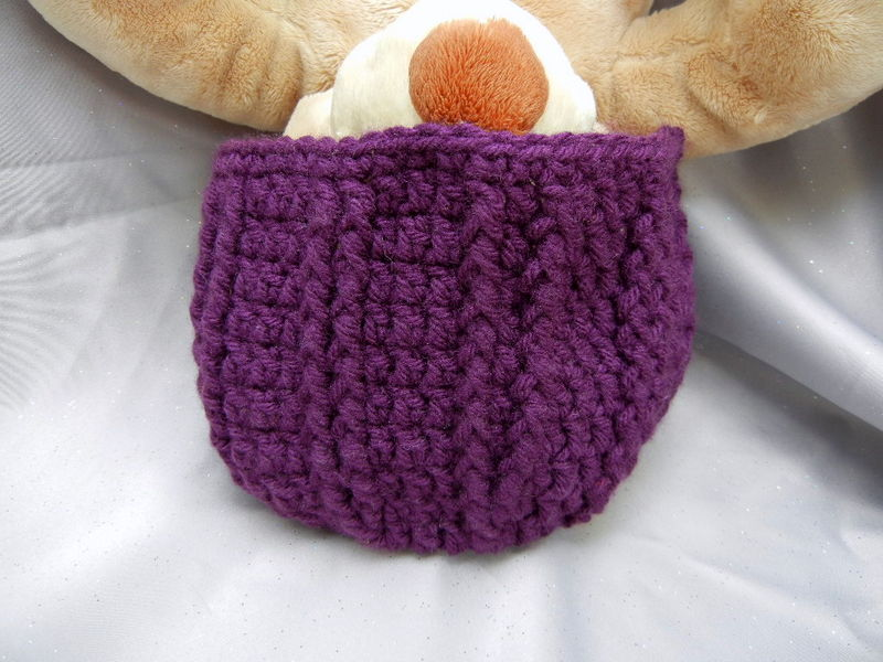 Purple Crochet Beanie Hat for Kids - Crowe Shea Fashions