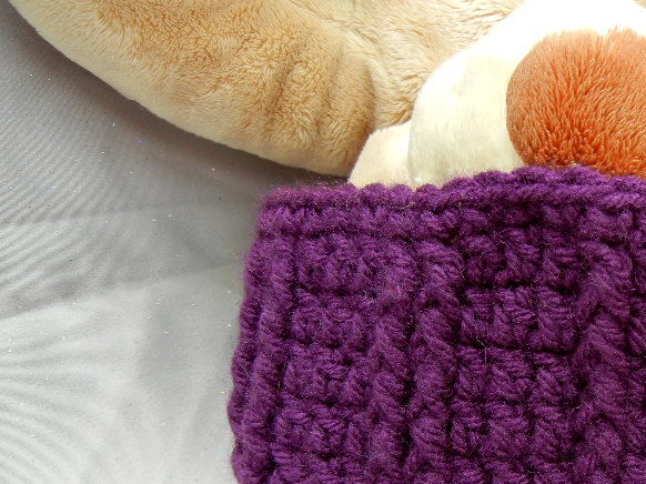 Purple Crochet Beanie Hat for Kids - product image