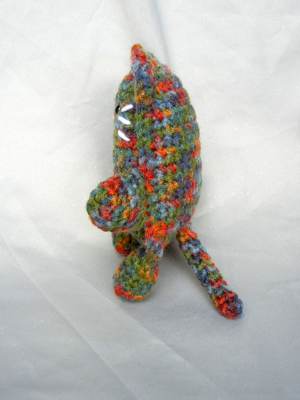 Crochet Stuffed Toy Cat Fall-Toned - product image