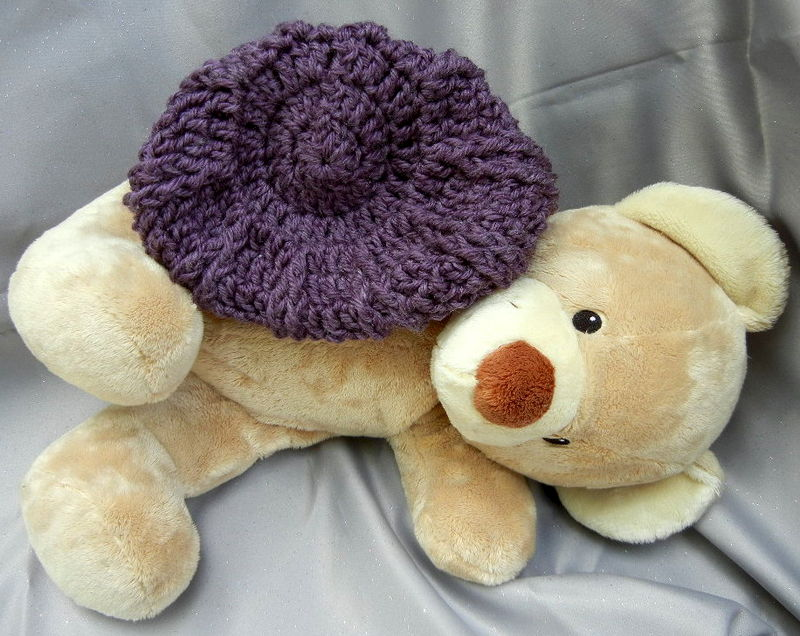 Crochet Kids Hat Smokey Plum - product image