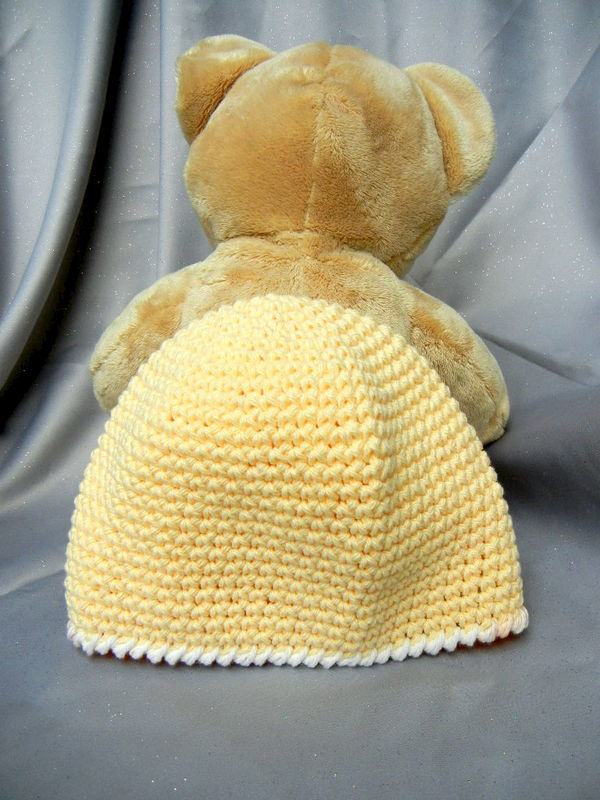 Crochet Kids Hat Beanie Yellow - product image