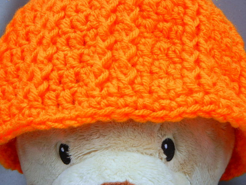 Orange Beanie Hat for Kids - product image