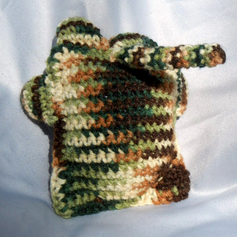 Crocheting Stuff : Camouflage Crochet Cat Plushie Stuffed Animal - Crowe Shea Fashions