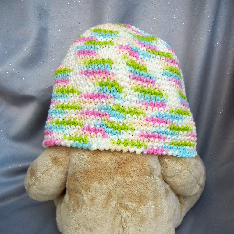 Cotton Crochet Beanie for Adults Pastel Mint - product image
