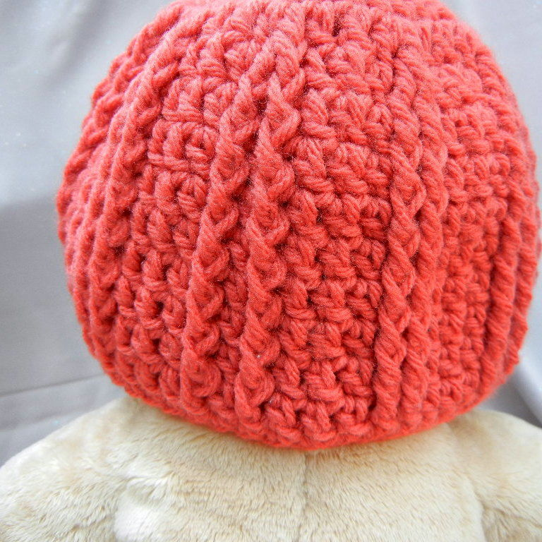 Kids Crochet Hat Brick Red - product image