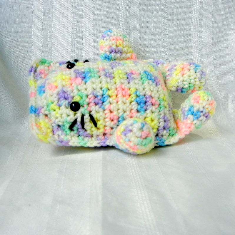Crochet Toy Stuffed Cat Pastel - product image