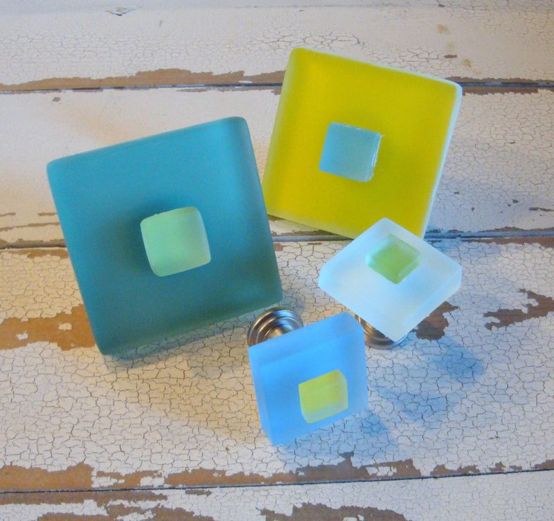 Small Beach Glass Drawer Knob Cabinet Pull Furniture $10 - product images  of