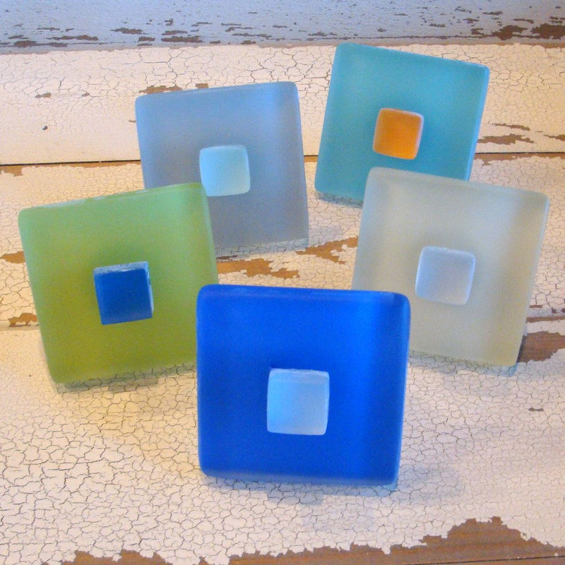 Drawer Pull Beach Glass Cabinet Knob Sea 1175 BeachyRustica