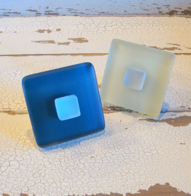 Drawer Pull Beach Glass Cabinet Knob Sea $11.75 - product images  of