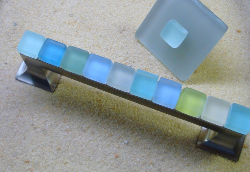 Beach Glass Drawer Pulls Part - 23: Beach Glass Drawer Pull 128mm Sea Cabinet Handle $36 - Product Images Of