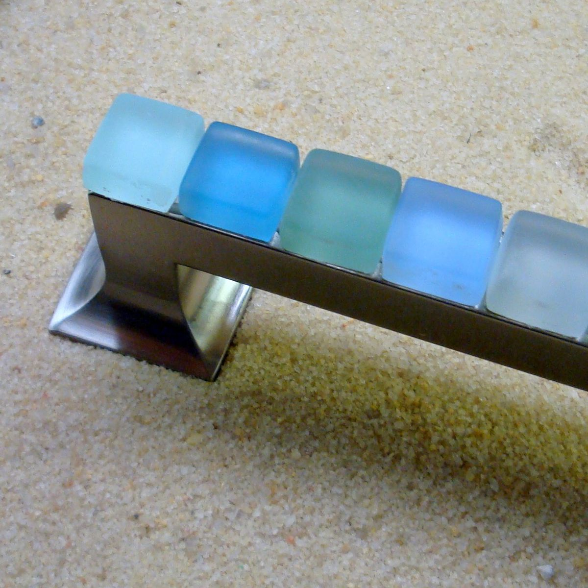 Beach Glass Drawer Pulls Part - 22: Beach,Glass,Drawer,Pull,128mm,Sea,Cabinet,Handle,