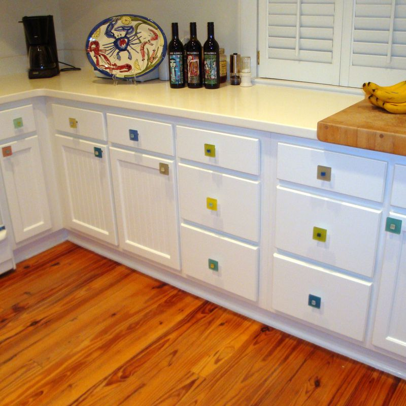 Beach Glass Drawer Pulls Part - 24: Beach Glass Tile Drawer Knob Cabinet Pull - Product Images Of
