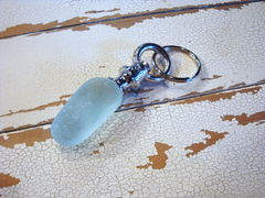Sea Glass Stone Nautical Keyring Key Chain Handmade $24 - product images  of