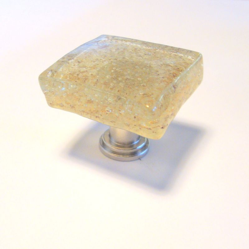 Handmade Fused Glass Cabinet Knob Drawer Pull Sand $18 - product images  of