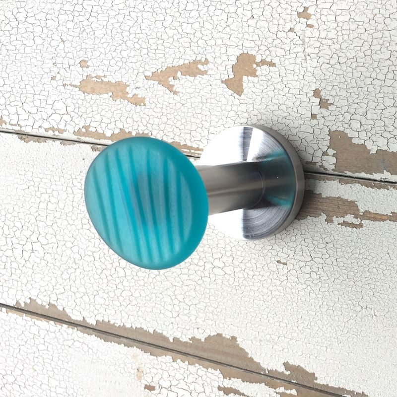 Ohajiki Sea Glass Inspired Wall Hook Stainless Steel - product images  of