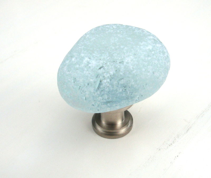 Sea Glass Stone Cabinet Knob Drawer Pull Turquoise - product images  of