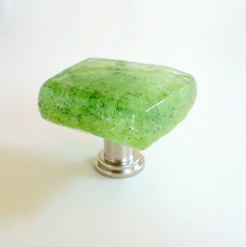 Lime Fused Glass Cabinet Knob Drawer Pull $18 - product images  of