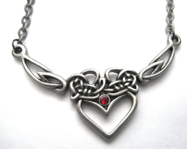 Celtic heart necklace vamps jewelry gothic victorian jewelry celtic heart necklace product images of aloadofball Images