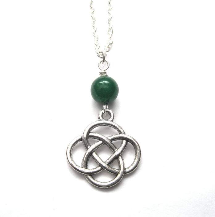 Celtic love knot necklace vamps jewelry gothic victorian jewelry celtic love knot necklace product images of aloadofball Image collections