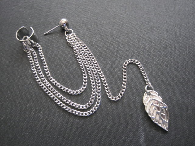 how to wear cuff earrings with chain