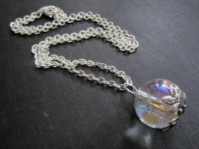 Crystal ball necklace vamps jewelry gothic victorian jewelry crystal ball necklace product images of aloadofball Images