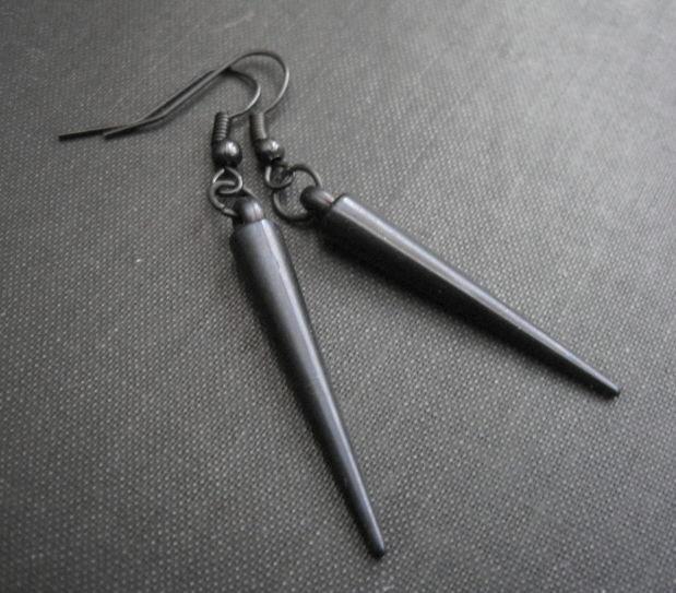 Black Spike Vampire Dangle Earrings Product Images Of