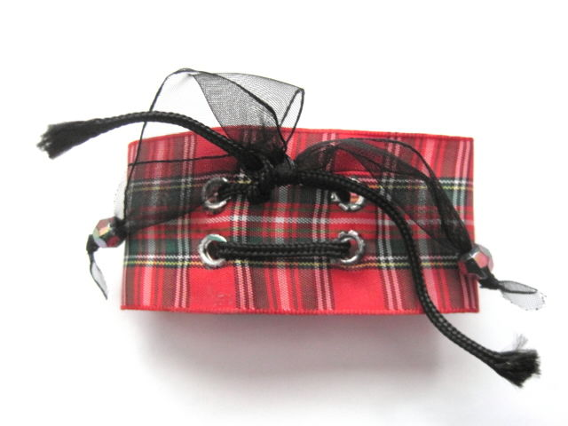 Punk Rock Plaid Bracelet  - product images  of