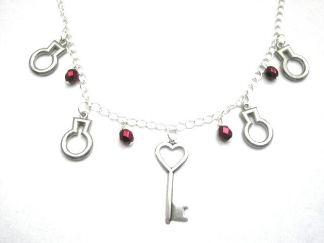 Peephole Door Key Charm Necklace Alice in Wonderland  sc 1 st  V&s Jewelry & Peephole Door Key Charm Necklace Alice in Wonderland - Vamps Jewelry ...