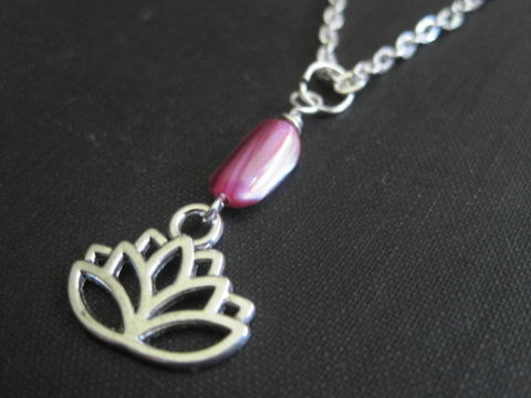 Lotus,Flower,Mother,of,Pearl,Necklace,Lotus Flower Mother of Pearl Necklace, pink mother of pearl, lotus, mystical jewelry