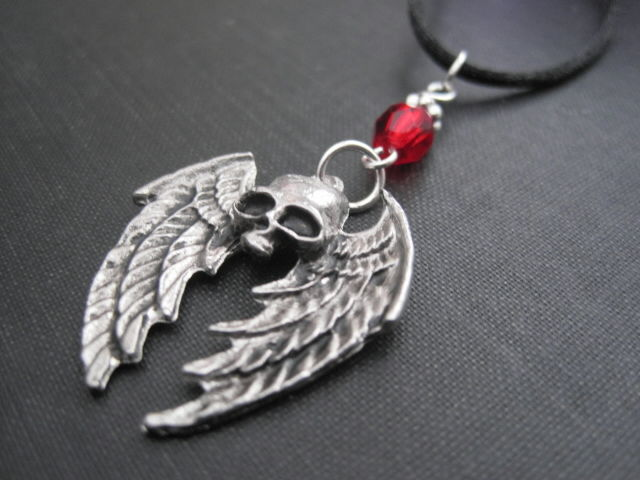 Mystic Winged Skull Cord Necklace - product images  of