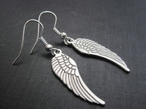 Angel,Wing,Dangle,Earrings,Angel Wing Dangle Earrings