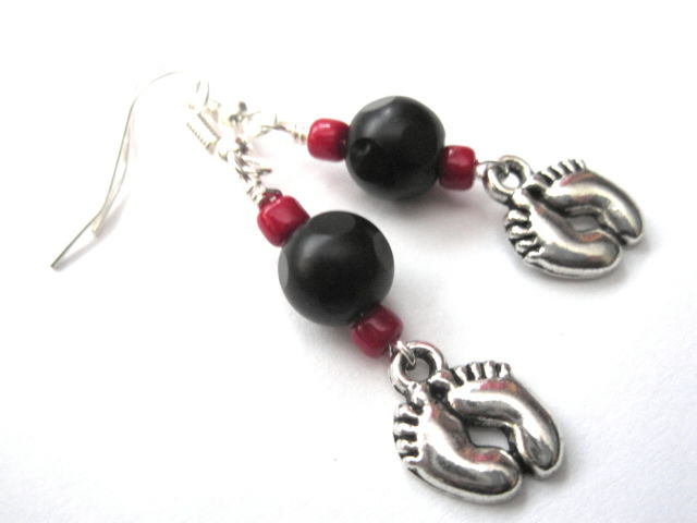Goth Baby Feet Dangle Earrings  - product images  of
